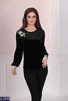 Блуза (42, 44, 46, 48) — велюр купить оптом и в Розницу в одессе 7км