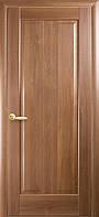 Дверное полотно Премьера глухое с гравировкой (Золотая ольха / ПВХ DeLuxe)