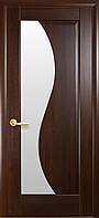 Дверное полотно Эскада со стеклом сатин (Каштан / ПВХ DeLuxe)