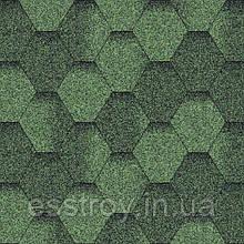 Битумная черепица Мозаика Зеленая ЭКО
