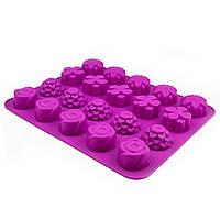 Планшет силикон печенье Цветы Ассорти 20 шт