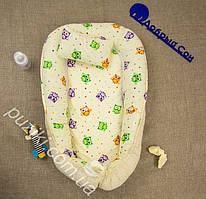 Позиционер двухсторонний для новорожденного с подушкой Совы, позиционеры для малышей оптом