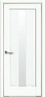 Дверное полотно Премьера со стеклом сатин (Белый матовый / ПВХ DeLuxe)
