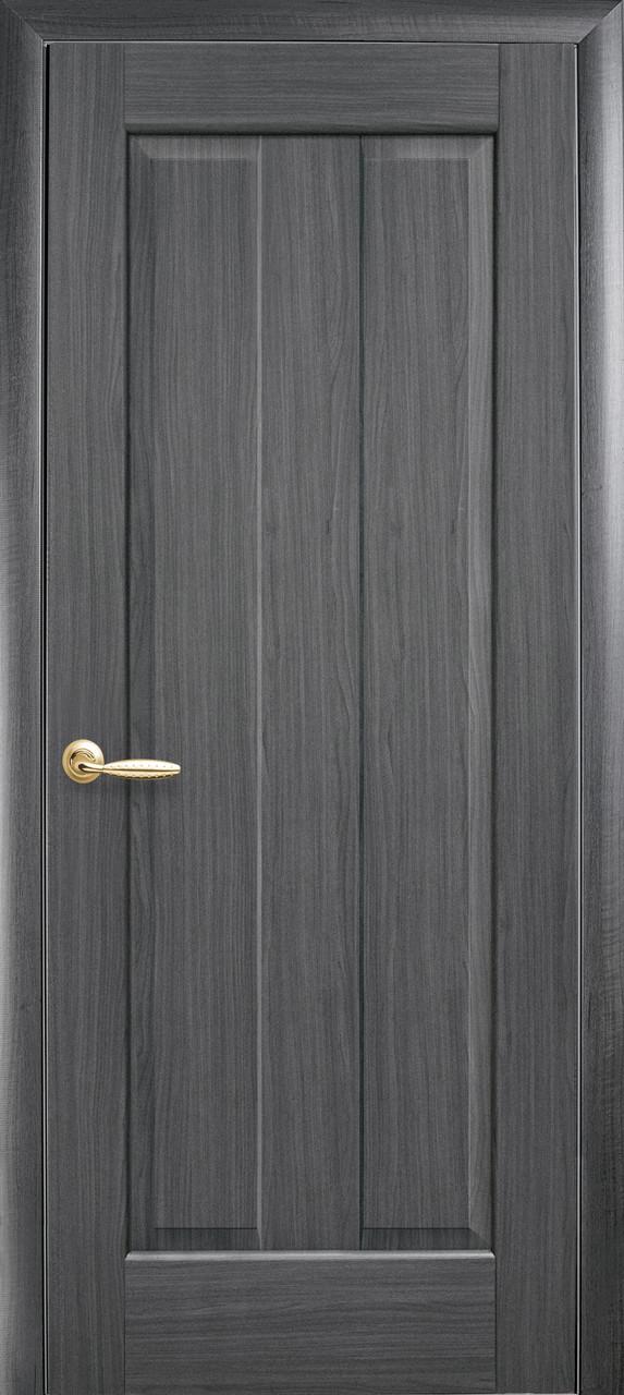 Дверное полотно Премьера глухое (Grey / ПВХ DeLuxe)
