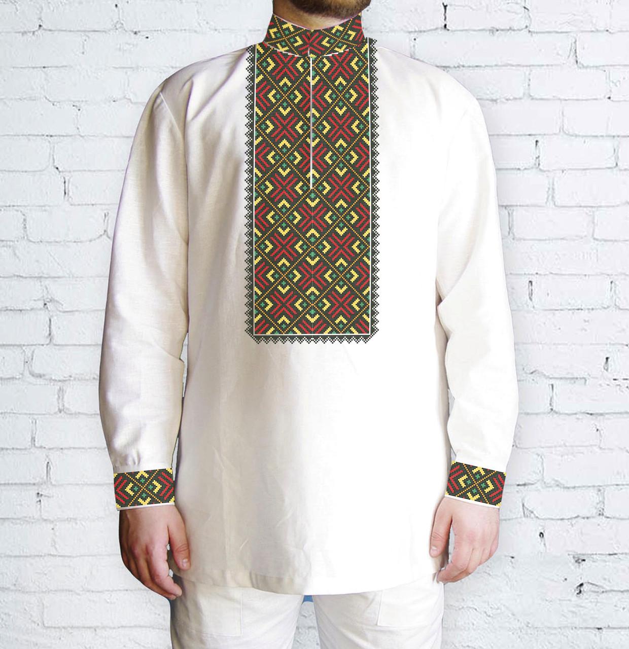 Заготовка чоловічої сорочки та вишиванки для вишивки чи вишивання бісером  Бисерок «Ромби плюс» ( 34516453fdb2d
