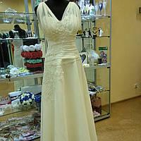 Свадебное платье шифоновое недорого (48р). ТГ-7