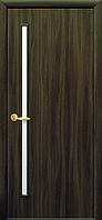 Дверное полотно Глория со стеклом сатин (Кедр / Экошпон)