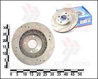 Тормозные диски ВАЗ 2110-12 вент.+ перфо.+канавки R14 (ROTINGER)
