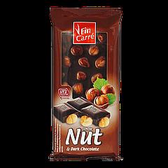 Шоколад Fin Carre NUT  100г Черный с цельными лесными орехами