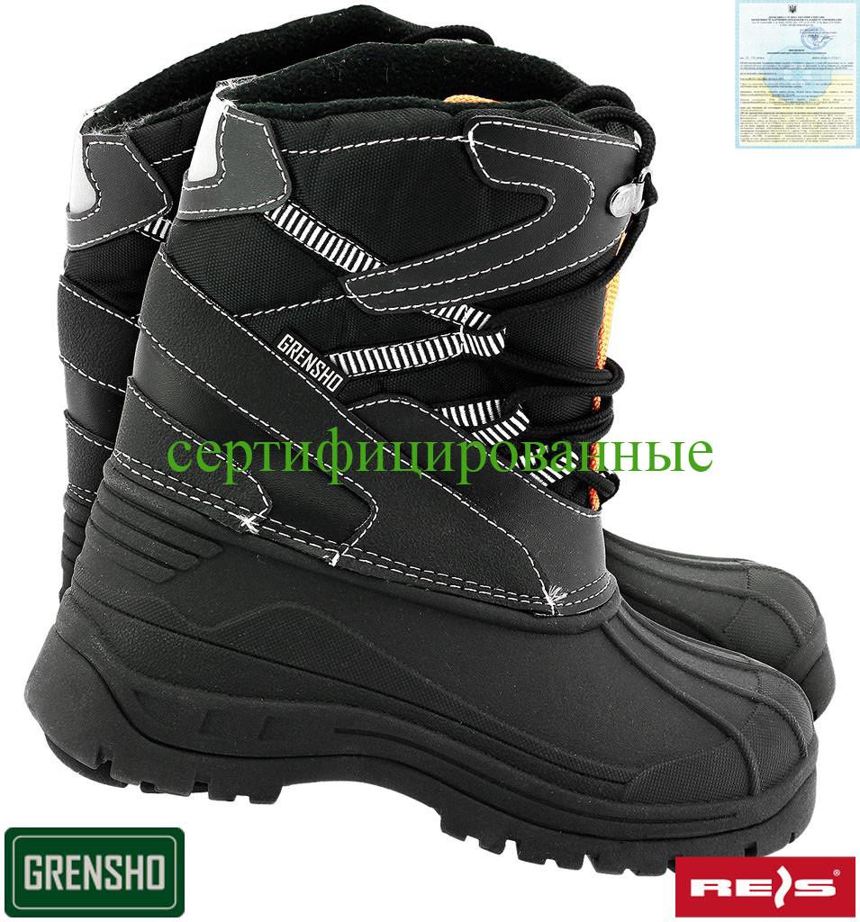 a9b28df86 Утепленные ботинки для рыбаков Ries Польша (сапоги рабочие зимние)  BSNOW-FMN BP -
