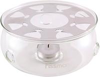 Подставка для заварочного чайника с греющей свечой Fissman (Жаропрочное стекло)