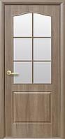 Дверное полотно Классик со стеклом сатин (Ольха premium / ПВХ DeLuxe)