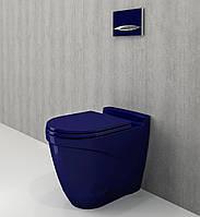 Унітаз приставний синій BOCCHI TAORMINA ARCH 1016-010-0129+А0373-010 сидіння дюропласт