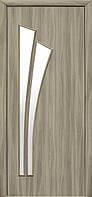 Дверное полотно Лилия со стеклом сатин (Сандал / Экошпон)