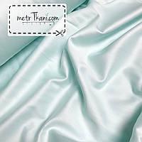 Сатин премиум светло-мятного цвета ширина 240 см № ПС-0041