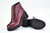 Ботильоны на каблуке цвета марсал