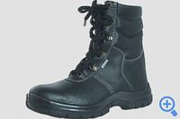 Ботинки рабочие кожаные с завышенными  берцами на ПУ подошве 242Т