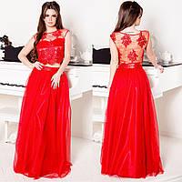 """Красное выпускное, вечернее платье в виде юбки с топом """"Беверли"""", фото 1"""