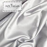 Сатин премиум светло-серого цвета ширина 240 см № ПС-0015
