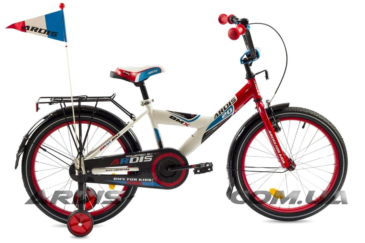 """Детский велосипед ARDIS GT BIKE 20""""  Белый/Красный/Черный"""
