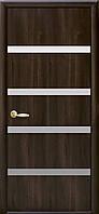 Дверное полотно Нота с зеркалом (Орех premium / ПВХ DeLuxe)
