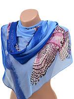 Шифоновый шарф на платье