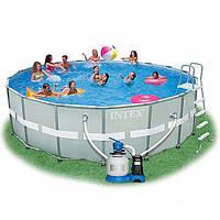 Каркасный бассейн Intex 28332,фильтр-насос, лестница, подстилка ,размер 549-132 см