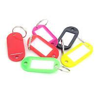 Гардебные номерки бирки пластиковые для ключей 10 шт