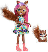 Кукла Энчантималс Белка Санча и бельченок Стампер / Enchantimals Sancha Squirrel Doll & Stumper, фото 2