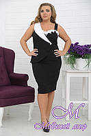 Женское летнее офисное платье больших размеров (р. 48-90) арт. Бизнес-Леди