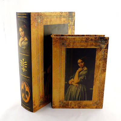 Шкатулка из двух книг Девушка 22 см