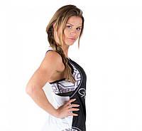 Майка для фітнесу Florida Stringer Tank Top Black/White, фото 1