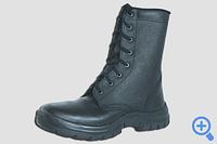 Ботинки рабочие кожаные с высокими берцами ОМОН на ПУ подошве 311Т.