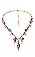 Уникальное ожерелье с цветными камнями ТБ-140, фото 1