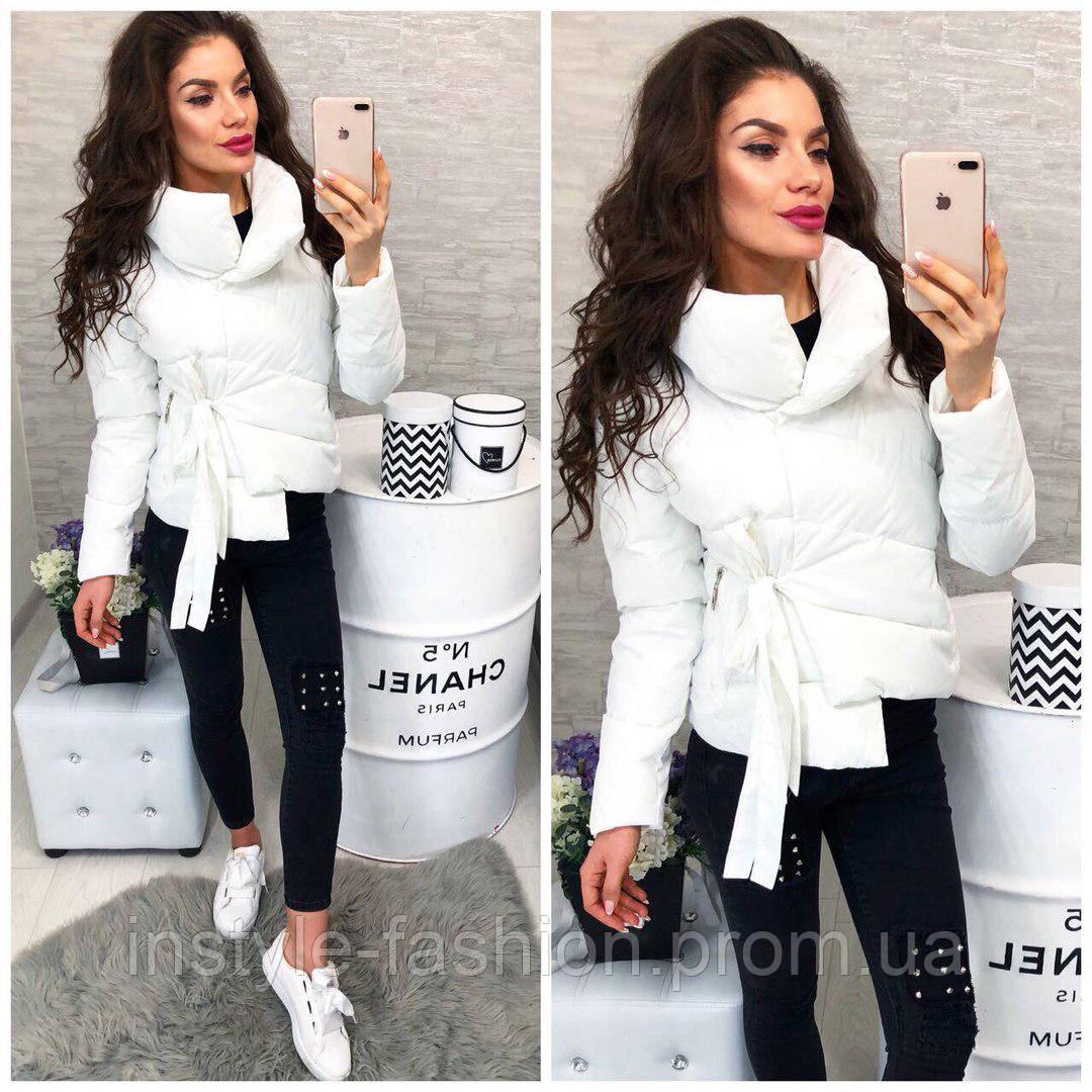 830822cd786 Женская красивая куртка ткань -плащевка с холофайбером Китай белая ...