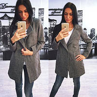 Модное женское пальто из твида  tez310233