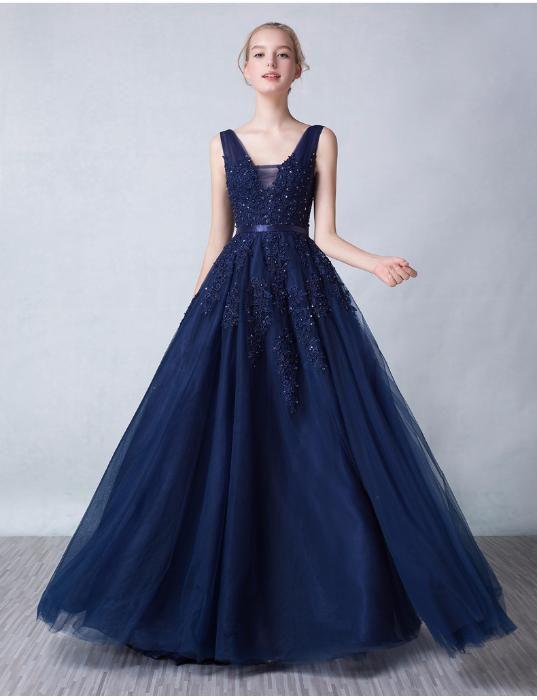 32eb917de64 Синее вечернее платье.Вечернее платье Украина.Синее выпускное платье.Пышное  вечернее платье.