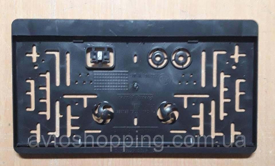 Рамка під американський, квадратний держ номер Чорна Універсальна, 31 Х 16,5 см