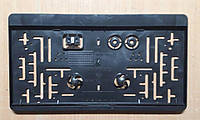 Рамка під американський, квадратний держ номер Чорна Універсальна, 31 Х 16,5 см, фото 1