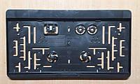 Рамка под американский, квадратный гос номер Черная Универсальная, 31 Х 16,5 см, фото 1