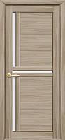 Дверное полотно Тринити со стеклом сатин (Сандал / Экошпон)
