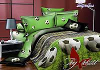 Подростковый постельный комплект Футбол ТМ TAG поплин полуторный 150х220