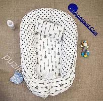 Позиционер двухсторонний для новорожденного с подушкой Стрела, позиционеры для малышей оптом