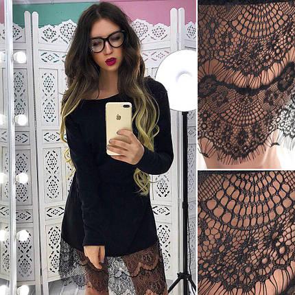 72671333151 Маленькое черное платье из ангоры с кружевом - Цена 345 грн. Купить ...