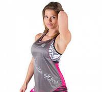 Майка для фитнеса Florida Stringer Tank Top - Gray/Pink, фото 1