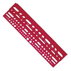 Полка пластиковая с отверстиями под инструмент 610*150*45 мм Intertool BX-0001