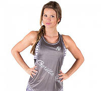Майка для фитнеса Florida Stringer Tank Top - Gray/White, фото 1