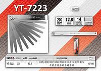 Щупы измерительные 200 х 12,8мм, 14 щупов, размер 0,05-0,50мм.,  YATO  YT-7223, фото 1