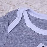 """Детский боди """"Енот"""" серый, 62, 68, 74 размер, фото 4"""