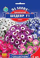 """Семена цветов Цинерария """"Шедевр"""", 5 шт, """"GL SEEDS"""", Украина"""